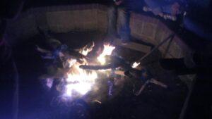 a burning ram